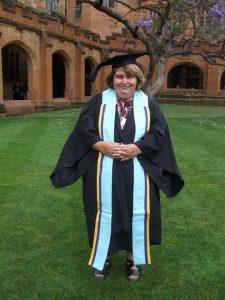 Julie Loblinzk at her graduation
