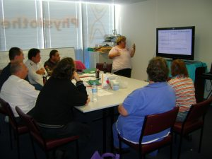 Julie Loblinzk training at a workshop