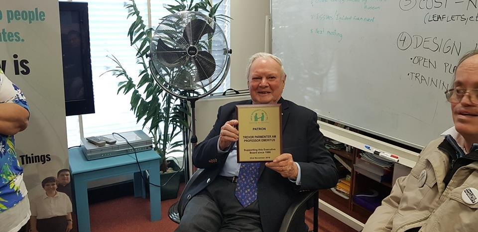 Trevor Parmenter holding a certificate