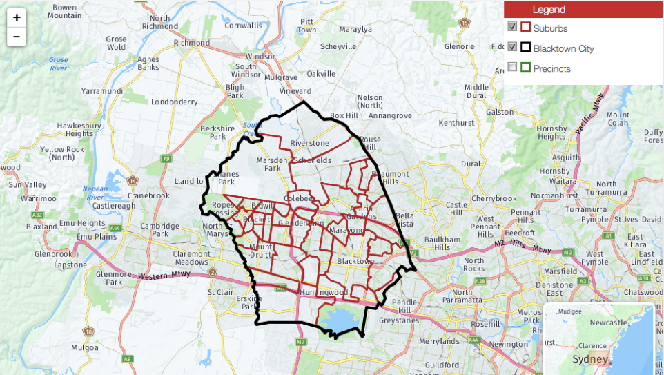 Blacktown Catchment Area